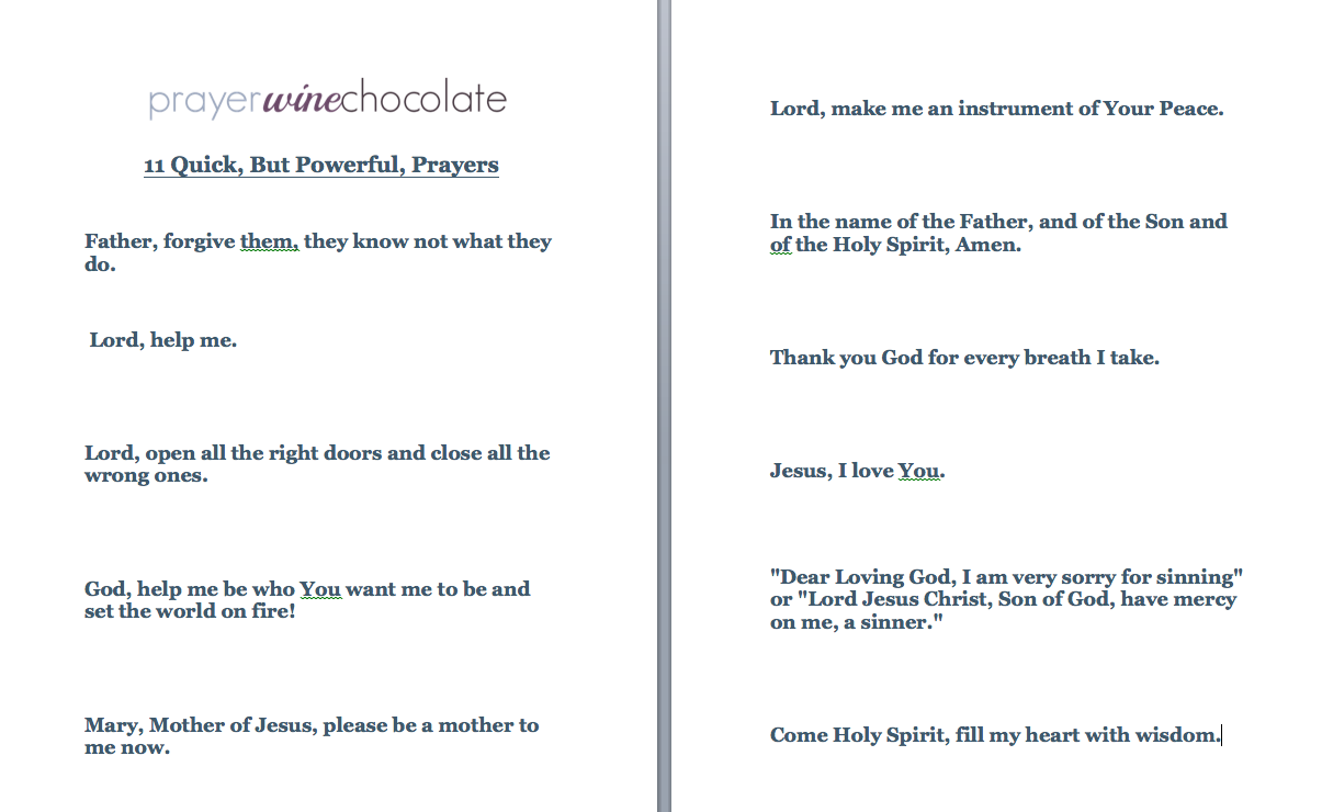 photo about Printable Prayers called 11 Simple, nevertheless Impressive, Prayers (absolutely free printable) - Prayer